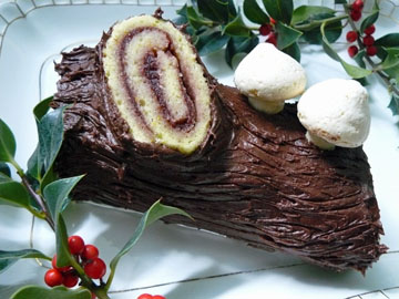 yule log plated vietnamese people love to bake and eat delicate aromatic sponge cakes my family is no different and i grew up with them all year round - Christmas Yule Log Cake