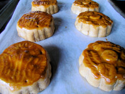 Home made moon cakes
