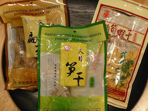 packaged dried bamboo shoot