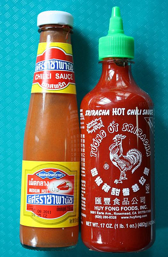 Sriracha Chile Sauces from Thailand and US