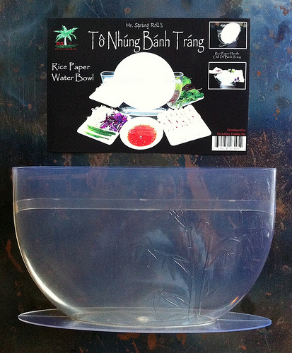 Mr. Spring Roll rice paper dipping bowl