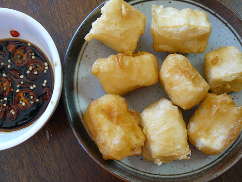 Asian Tofu: batter fried tofu recipe