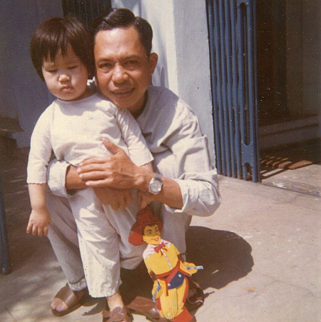 Andrea Nguyen and father 1974