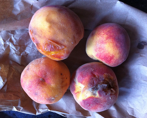 Peaches ugly but good ones