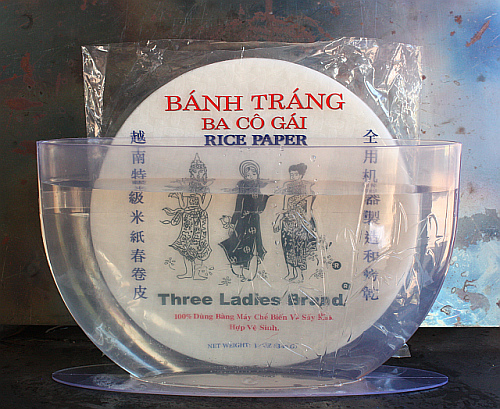 Mr. Spring Roll's rice paper caddy