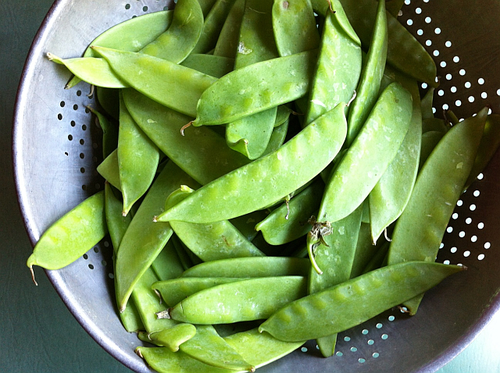Pickled snow peas raw