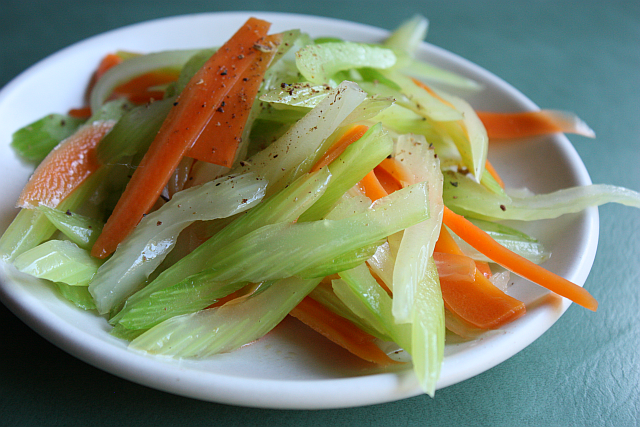 Celery And Carrot Tossed With Sesame Recipe Viet World Kitchen