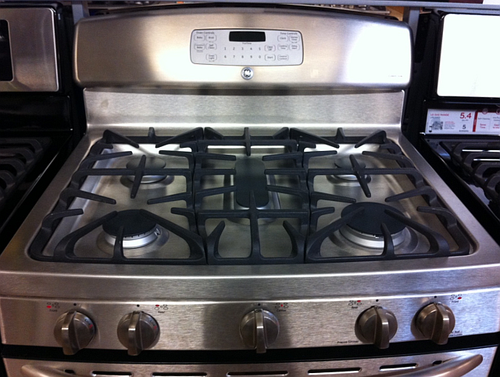 Stove stainless steel top