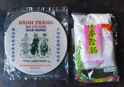 Rice paper and wheat starch