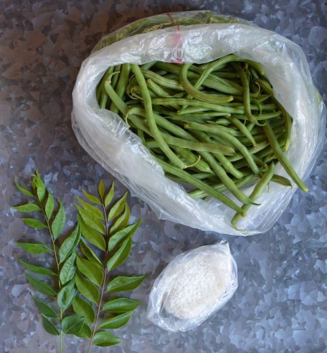 Green-beans-coconut-produce