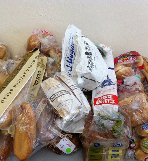 Some of the bread purchased for The Banh Mi Handbook photoshoot