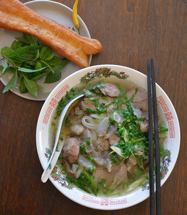 Homemade Hanoi-style pho