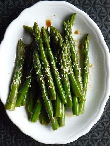 asparagus with soy sauce and sesame recipe