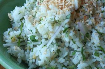 Asian Herb Rice Salad Recipe (Nasi Ulam)