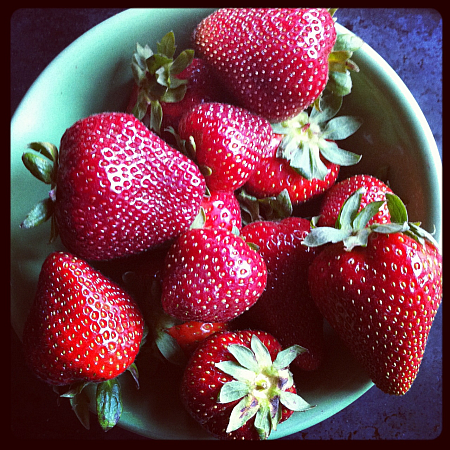 Locally grown strawberries
