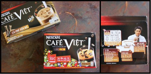 Instant vietnamese coffee collage
