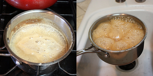 Homemade condensed milk cooking2