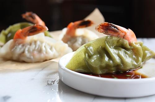 Korean shrimp mandu dumpling