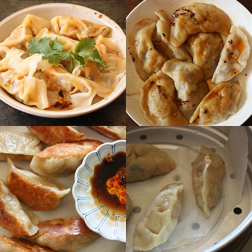 Roasted kabocha squash dumplings collage