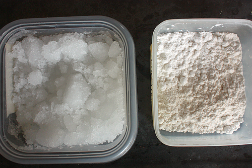 Tofu coagulants -- refined nigari and gypsum
