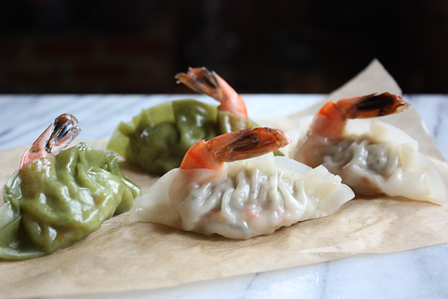 Korean shrimp mandu dumpling done