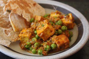 Matar Soy Paneer Recipe (Peas and Tofu in Spicy Sweet Sauce)