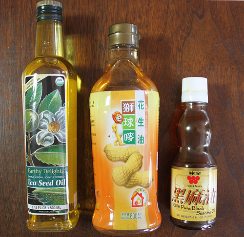 Flavorful asian cooking oils to try tea seed semi refined peanut black sesame - Many times can reuse frying oil ...