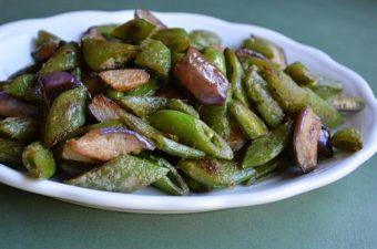 Seared Snap Peas, Eggplant and Fermented Tofu Recipe