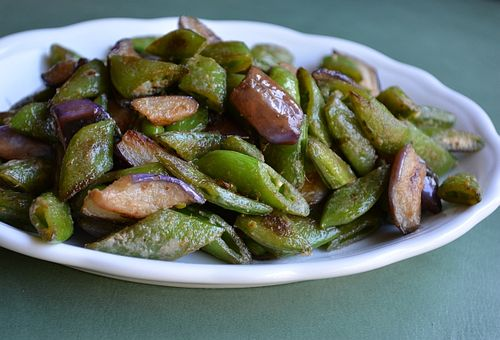 Seared-snap-peas-chinese-eggplant