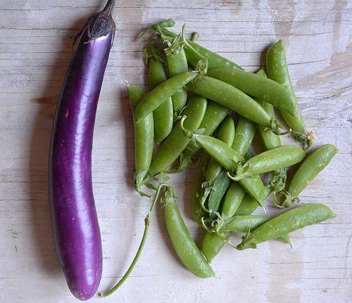 Snap-peas-eggplant