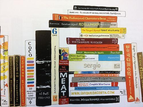 David Chang's bookshelf