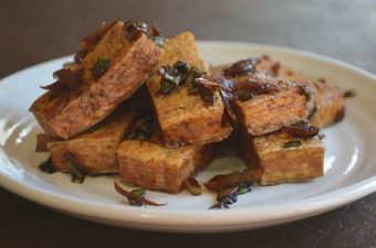 Panfried Tofu with Pickled Ginger Recipe