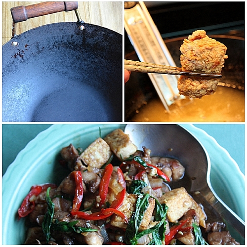 Wok workout collage