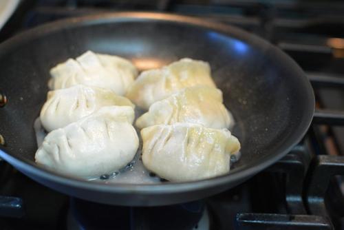 Dumplings-in-skillet
