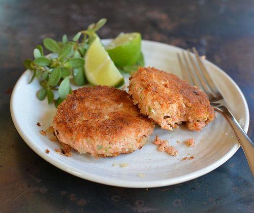 Salmon-tofu-cakes