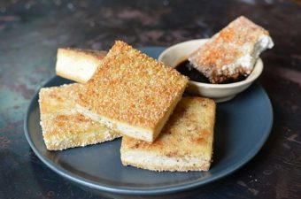 Rice Coated Crispy Tofu Recipe
