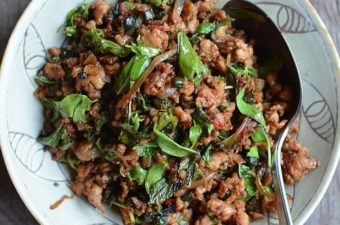 Thai Stir-fried Chicken with Basil Recipe
