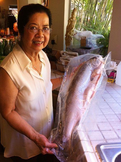 Mom-frozen-salmon