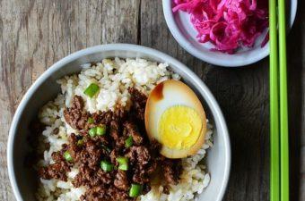 Taiwanese Five-Spice Pork Rice Bowl Recipe (Lu Rou Fan)