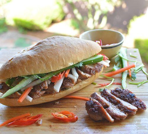 Lemongrass-sriracha-pork-sausage-banh-mi