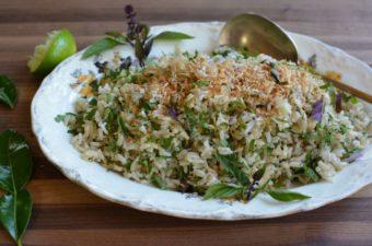 Summer Garden Herb and Rice Salad Recipe (Nasi Ulam)