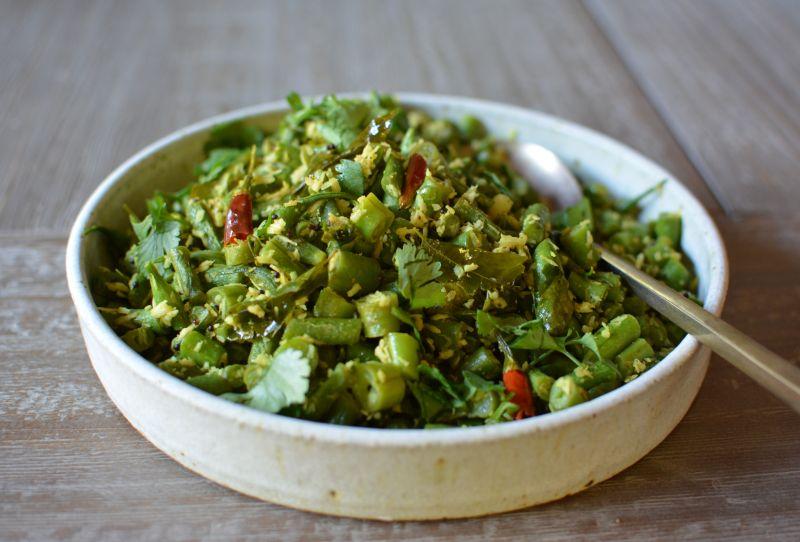 Green-beans-coconut-cilantro