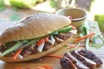 Lemongrass Pork Sausage Banh Mi Recipe