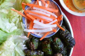 Grilled Beef in Wild Betel Leaf Recipe (Thit Bo Nuong La Lot)
