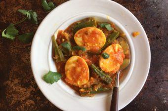 Burmese Egg and Okra Curry Recipe