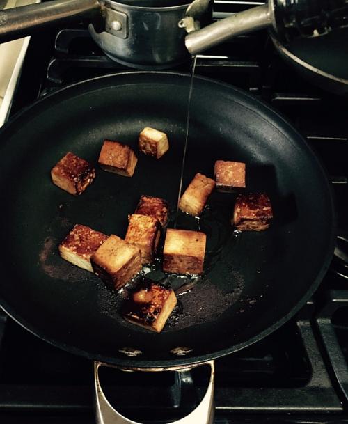 Pan-seared-tofu-oil