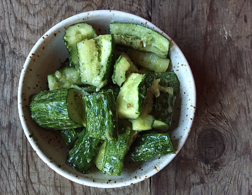 Cucumber-cilantro-pesto