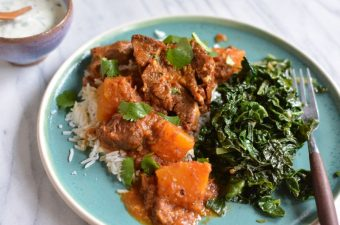 Instant Pot Northern Indian Lamb Curry with Pumpkin (Gosht)
