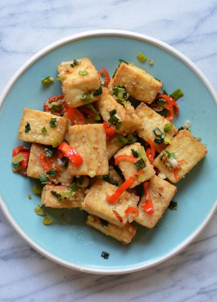 air-fried salt and pepper tofu