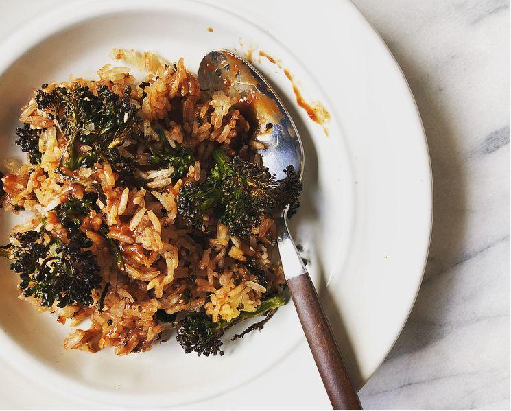 general tso's broccoli fried rice